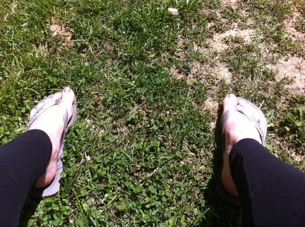 Yay for flipflops and sunshine!
